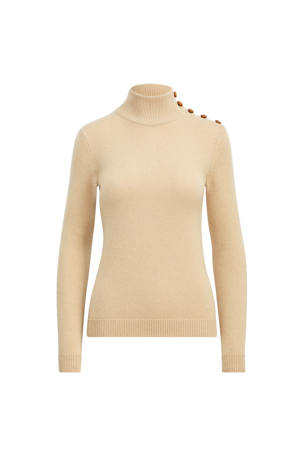 7e88b5f89c585a Button Cashmere Turtleneck by Ralph Lauren Collection at ORCHARD MILE