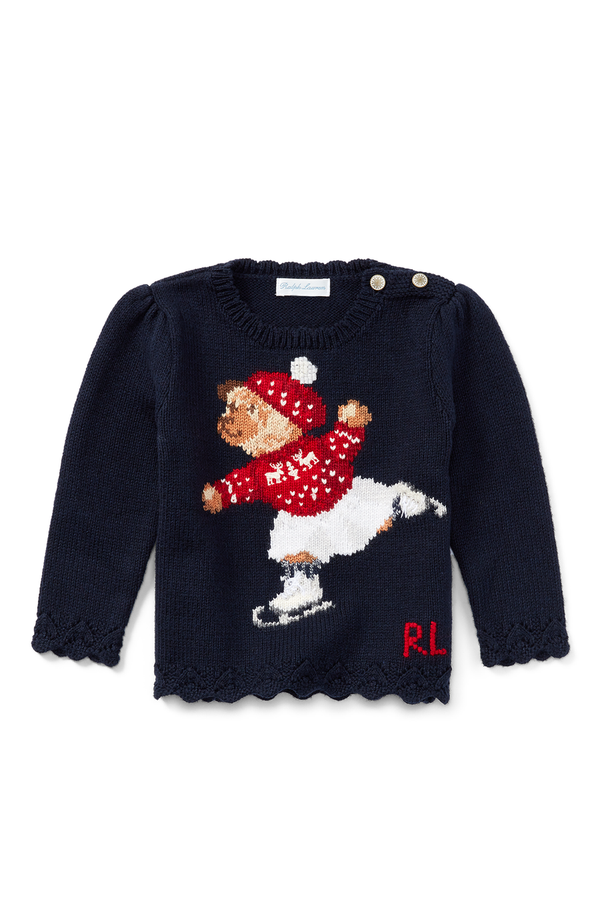 016a0f545a41 Skate Polo Bear Cotton Sweater by Ralph Lauren Kids at ORCHARD MILE