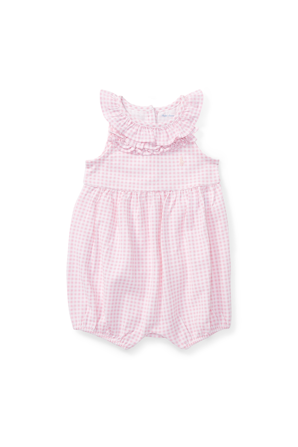 e98045ca88921 Ruffled Gingham Cotton Romper by Ralph Lauren Kids at ORCHARD MILE