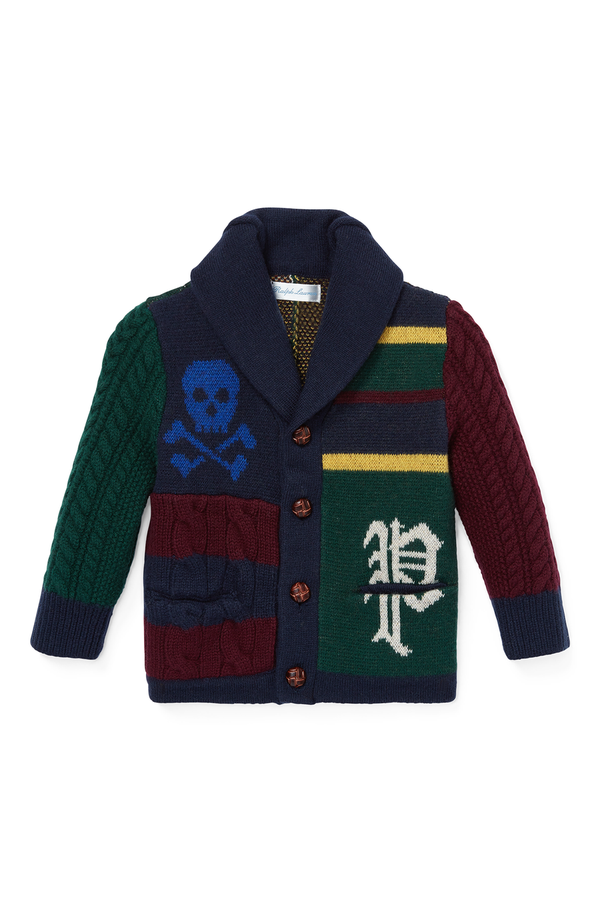 a084ffac3 Patchwork Merino Cardigan by Ralph Lauren Kids at ORCHARD MILE