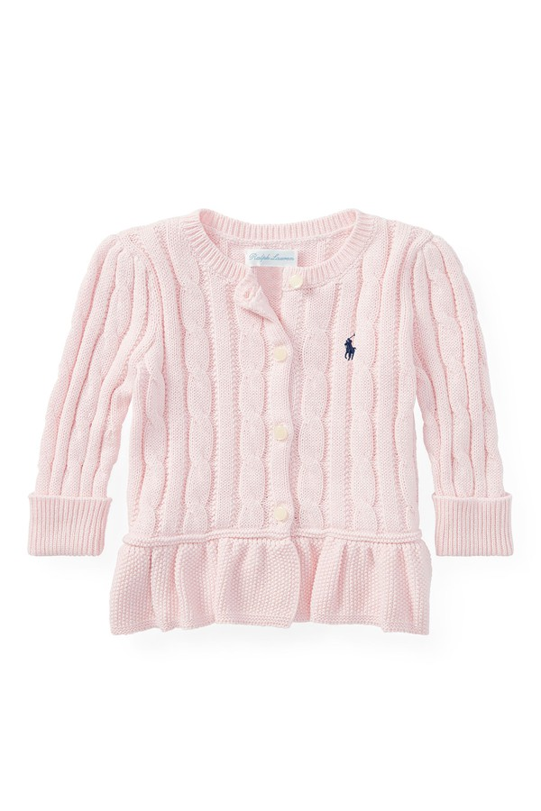 21d7591f1 Cable Cotton Peplum Cardigan by Ralph Lauren Kids at ORCHARD MILE