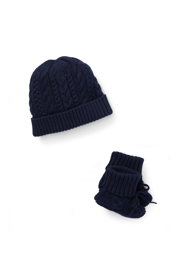 8f9e67b3625 Cotton Hat   Booties Set by Ralph Lauren Kids at ORCHARD MILE