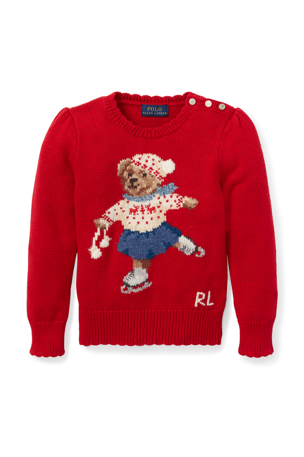 5578246356c6 Holiday Bear Sweater by Ralph Lauren Kids at ORCHARD MILE