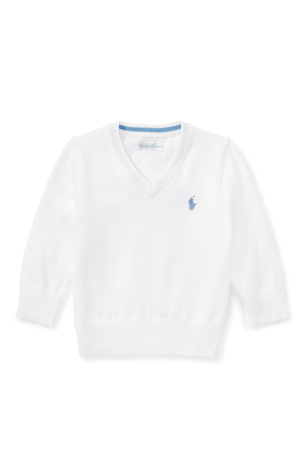 f28adb2a4b32ee Cotton V-Neck Sweater by Ralph Lauren Kids at ORCHARD MILE