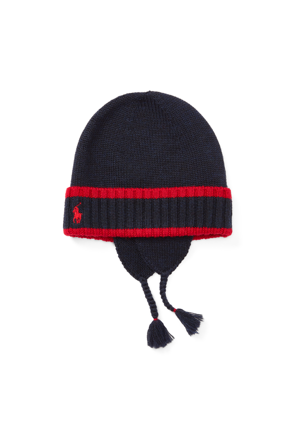 a3107f29ed92e Striped Wool Earflap Hat by Ralph Lauren Kids at ORCHARD MILE
