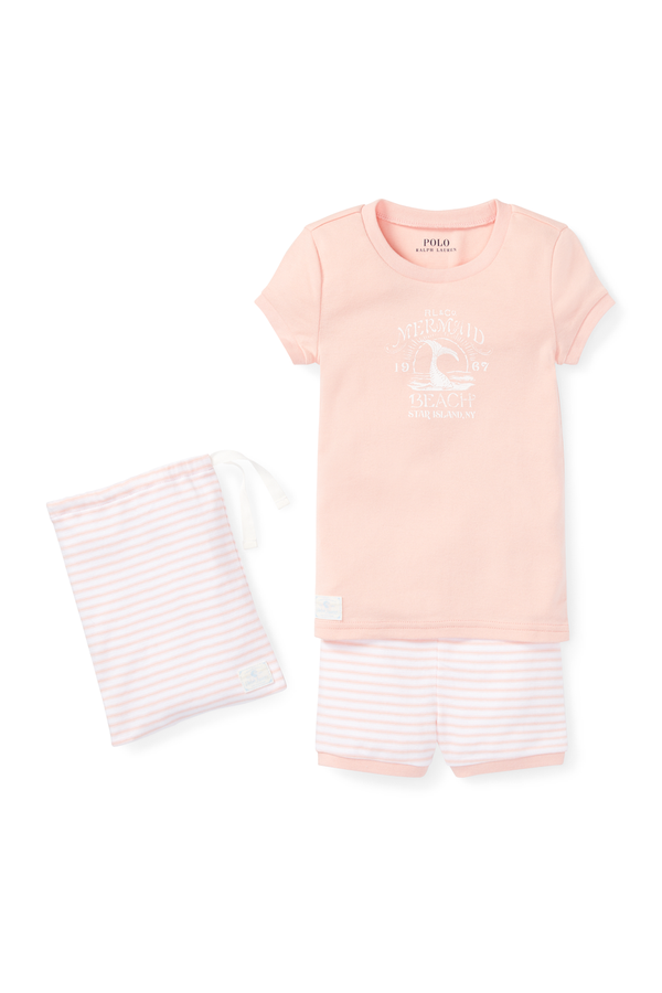 ed6ebe418dfb84 Cotton Graphic Pajama Set by Ralph Lauren Kids at ORCHARD MILE