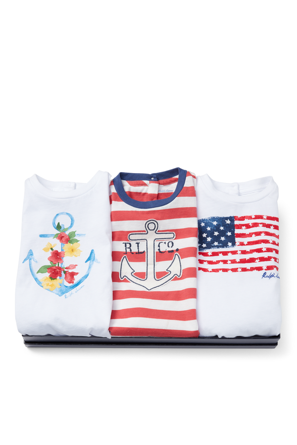 364559ddb83b87 T-Shirt 3-Piece Gift Set by Ralph Lauren Kids at ORCHARD MILE