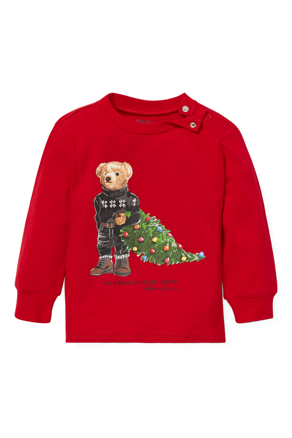 a8619a10 Holiday Bear Cotton T-Shirt by Ralph Lauren Kids at ORCHARD MILE