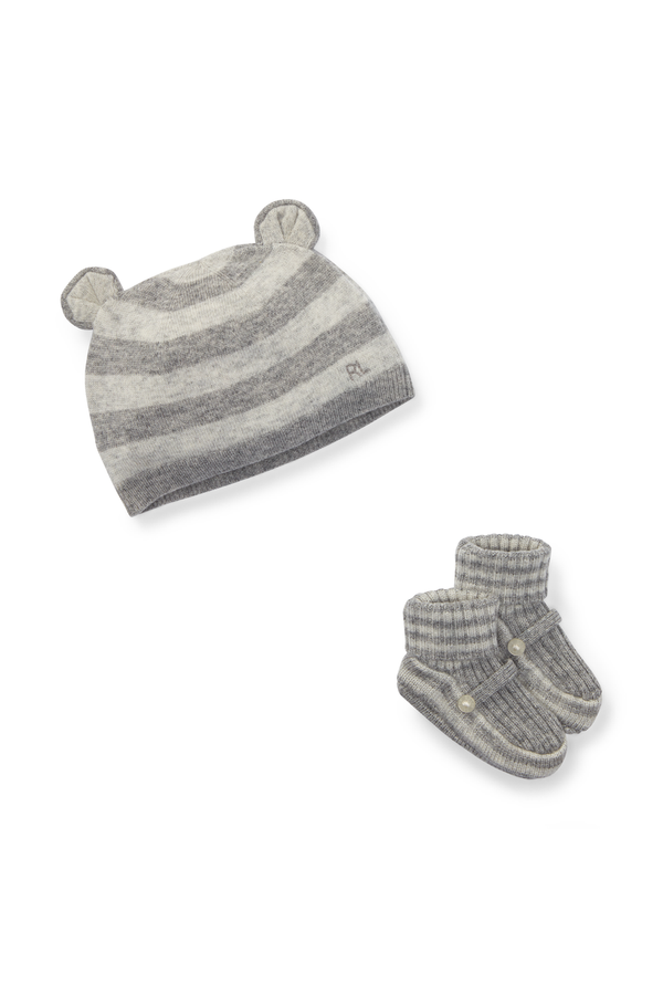 Wool-Cashmere Hat   Bootie Set by Ralph Lauren Kids at ORCHARD MILE 7dd67a56cffb