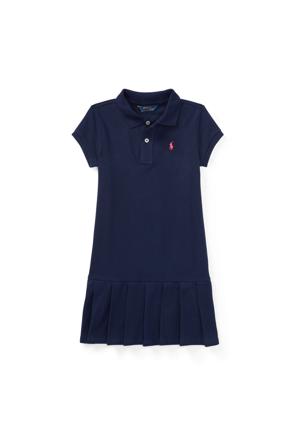 b4e4c1a02 Pleated Cotton Polo Dress by Ralph Lauren Kids at ORCHARD MILE