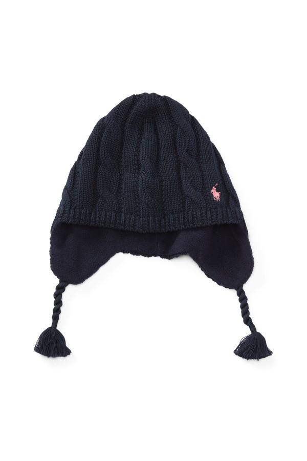 c3d42f494215e Cable-Knit Cotton Earflap Hat by Ralph Lauren Kids at ORCHARD MILE