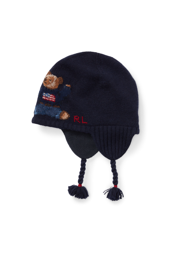 d01329f628110 Polo Bear Wool-Blend Hat by Ralph Lauren Kids at ORCHARD MILE