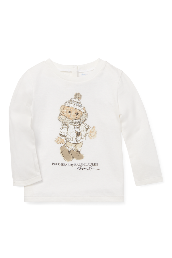 96495800 Holiday Bear T-Shirt by Ralph Lauren Kids at ORCHARD MILE