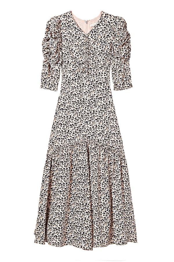 2c9d728af9 Leopard Print Silk Ruched Dress by Rebecca Taylor at ORCHARD MILE