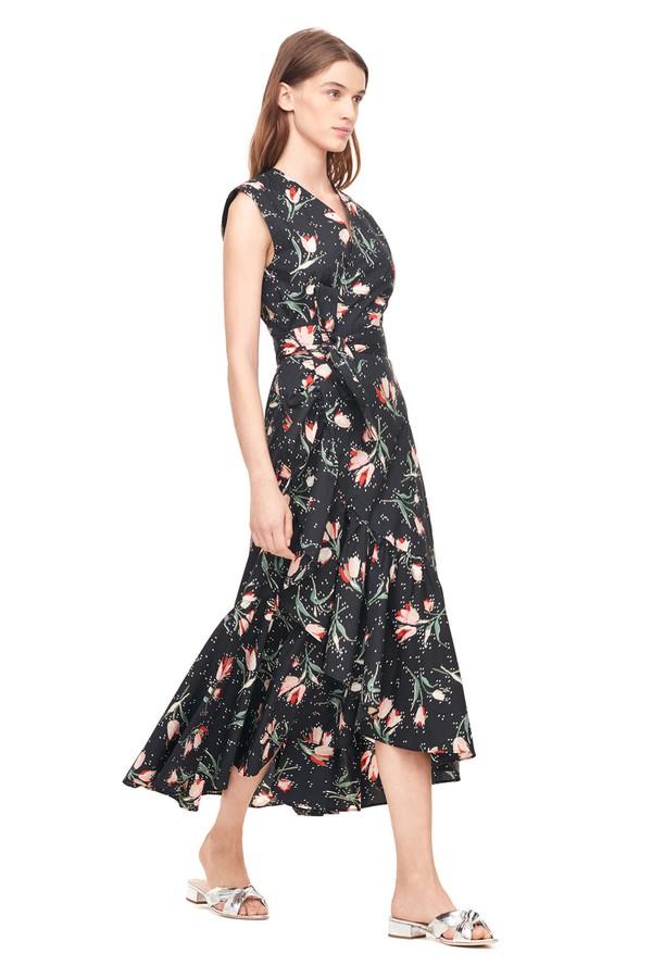 Ikat Tulip Poplin Wrap Dress by Rebecca Taylor at ORCHARD MILE