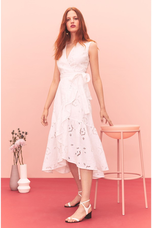 cd6d3f8e32d Terri Embroidered Wrap Dress by Rebecca Taylor at ORCHARD MILE