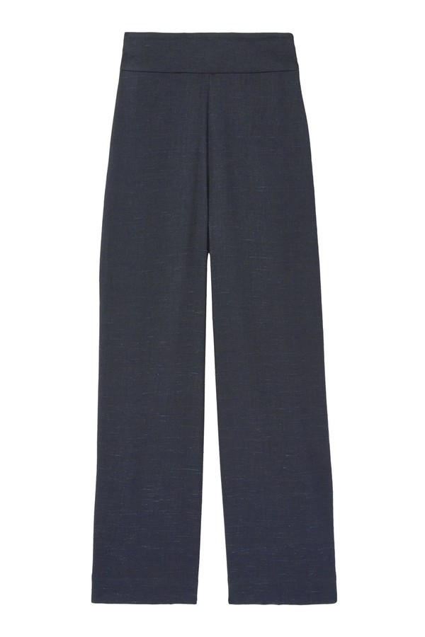 5d9b512d717e2 Tailored Stretch Linen Blend Cropped Pant by Rebecca Taylor at...