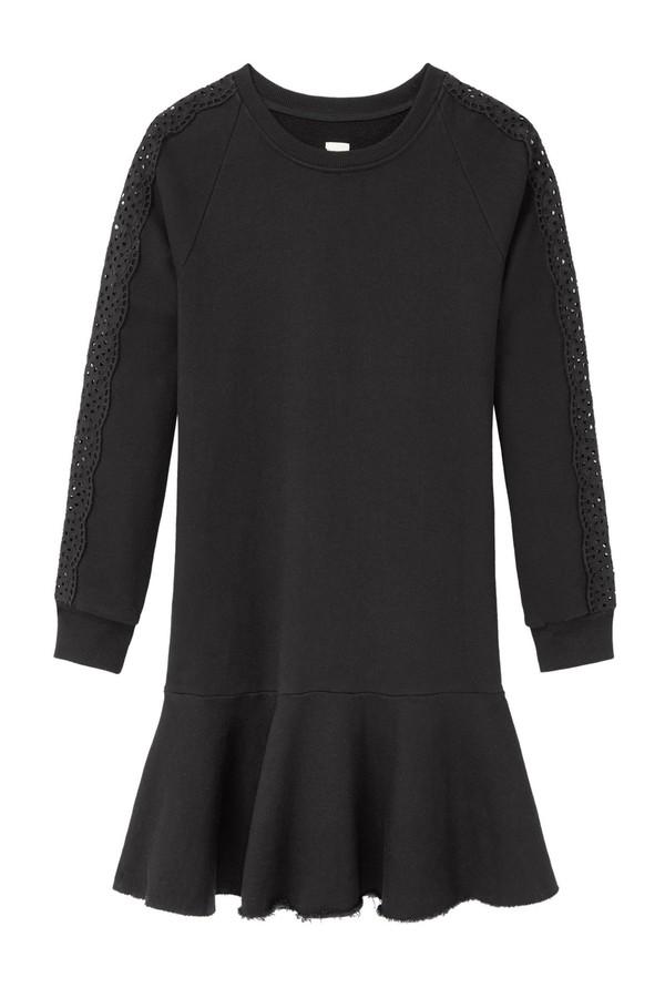 2d823bc1b43 La Vie Eyelet Fleece Dress by Rebecca Taylor at ORCHARD MILE
