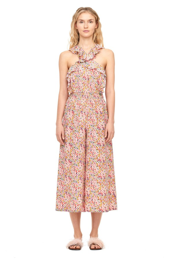 80743953d7 Margo Floral Silk Jumpsuit by Rebecca Taylor at ORCHARD MILE