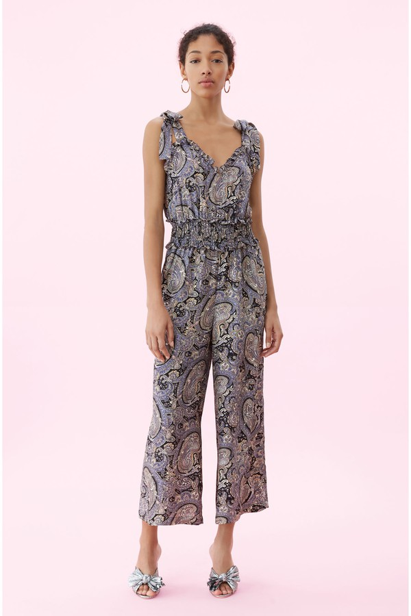 b7ec737111f0 Selene Paisley Silk Jumpsuit by Rebecca Taylor at ORCHARD MILE