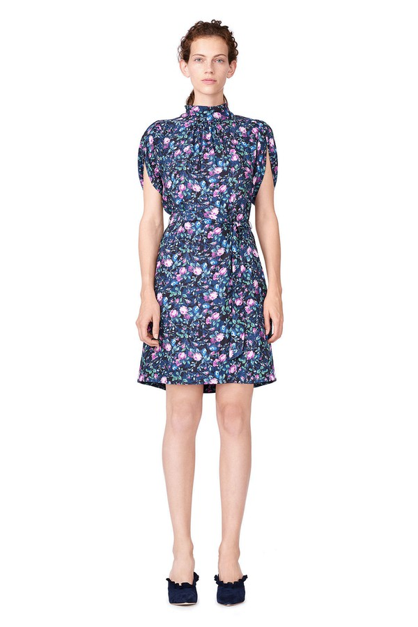 e90fec16207 Ruby Floral Petal Sleeve Silk Dress by Rebecca Taylor at ORCHARD MILE