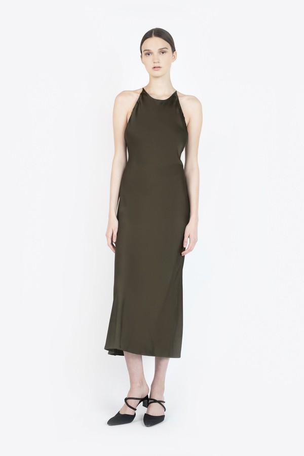 8ebb65f59f5c Cross Back Bias Slip Dress by Rosetta Getty at ORCHARD MILE