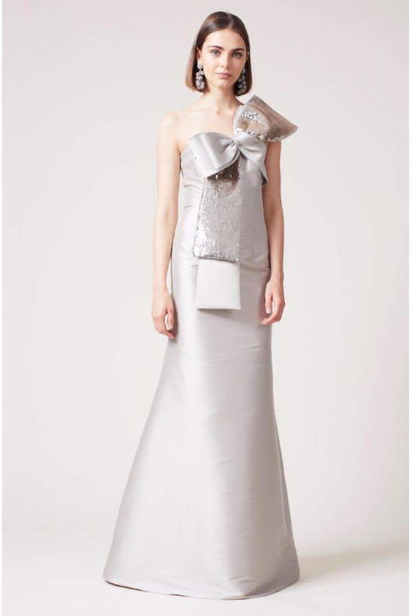 Nidia Embellished Mock Neck Gown by Alice + Olivia at ORCHARD MILE