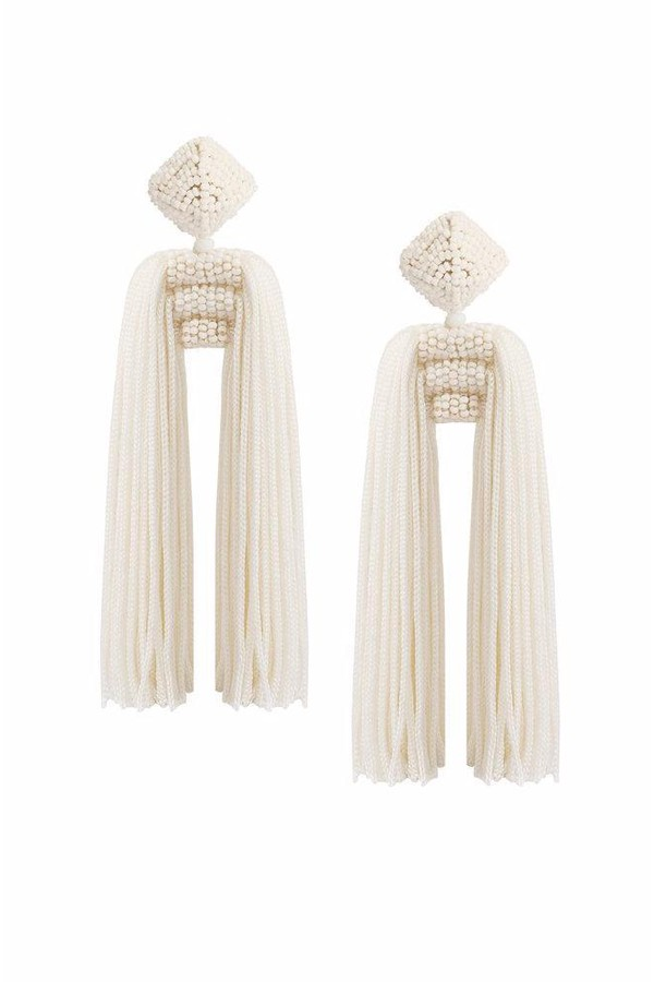 Sachin & Babi Short Dupio Earrings White/ Jet White/jet