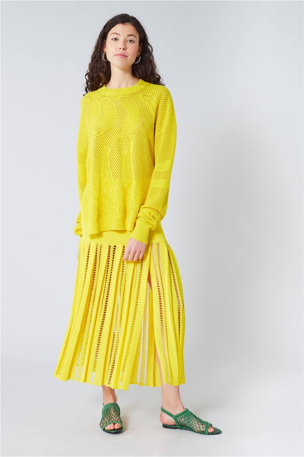 47a57c189fe Linen Blend Maxi Skirt by Sonia Rykiel at ORCHARD MILE