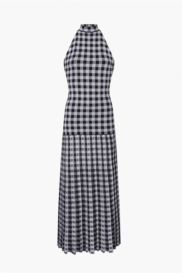 77c8df4b38d Gingham Maxi Knit Dress by Sonia Rykiel at ORCHARD MILE