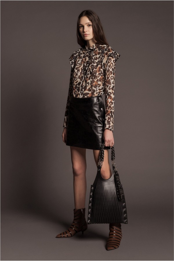 ef58bdc242 Crackled Leather Mini Skirt by Sonia Rykiel at ORCHARD MILE