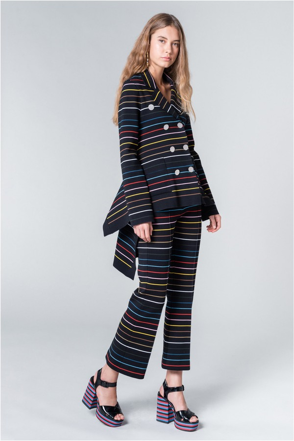 9bbdcbb59a Asymmetrical Jacket In Striped Knit by Sonia Rykiel at ORCHARD MILE