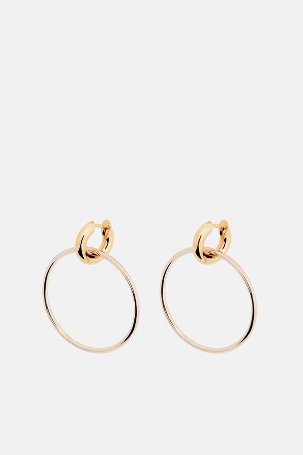 Spinelli Kilcollin Casseus Hoop Earrings With Detachable Gold Huggie - Silver Os BSTj9Fr