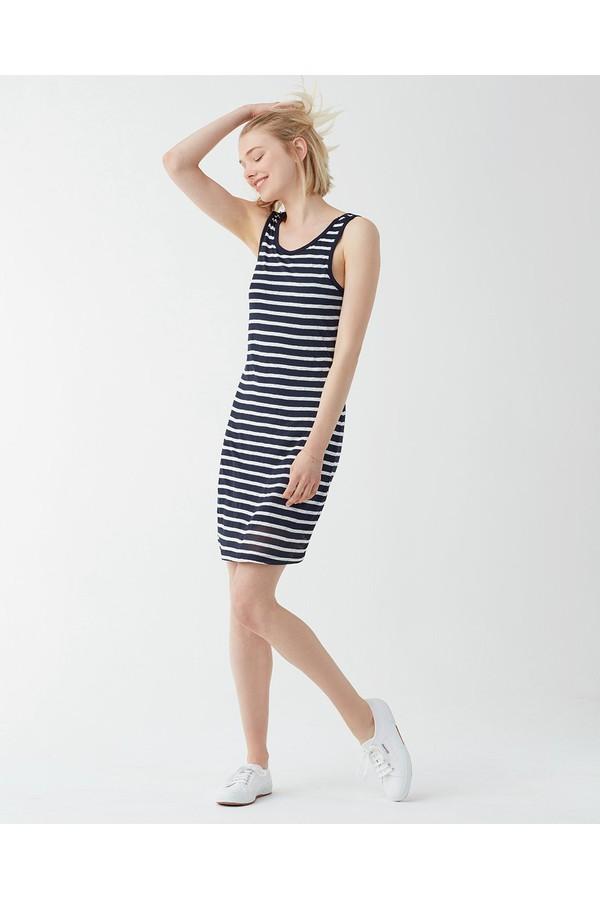 Splendid Linen Shadow Stripe Tank Dress