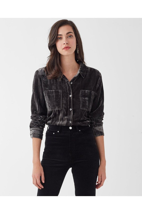 9397f387f706 Moonstone Velvet Shirt by Splendid at ORCHARD MILE