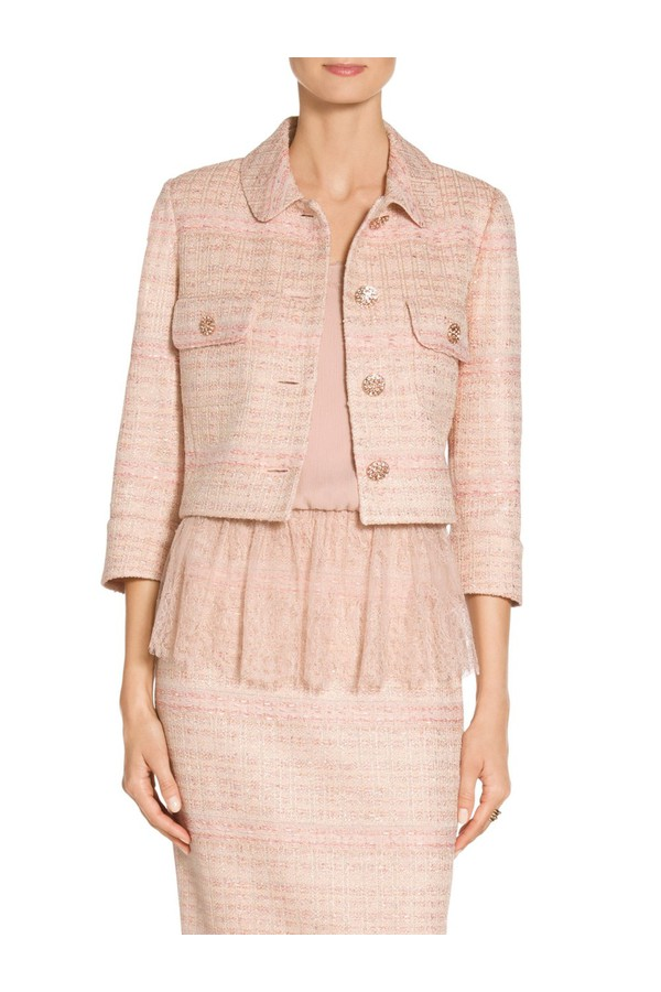 eedb6a2f042b Gilded Pastel Knit Round Collar Jacket by St. John at ORCHARD MILE
