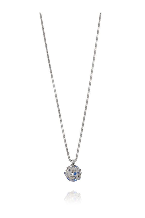 St. John Swarovski Crystal Pendant Necklace Fcst Lwozh