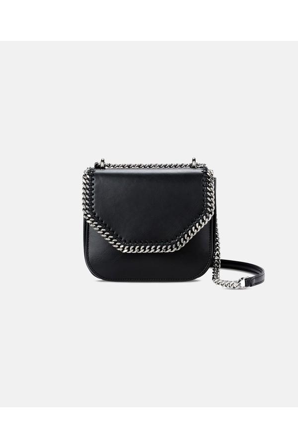 416c1ef0a3287 Black Falabella Box Mini Shoulder Bag by Stella McCartney at...