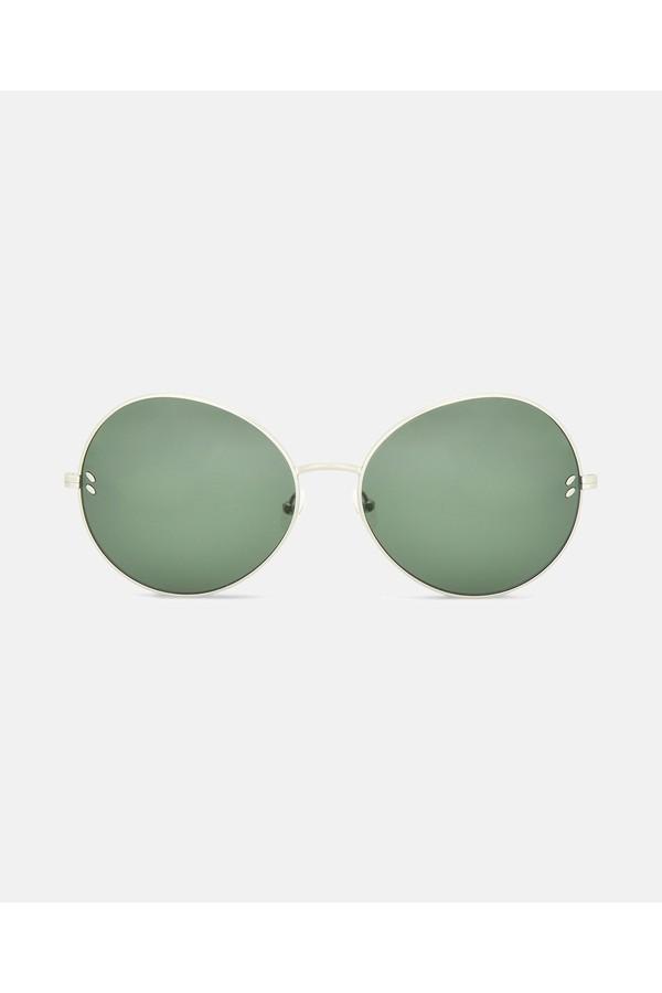 b8b91bc6f8 Metal Green Round Sunglasses by Stella McCartney at ORCHARD MILE
