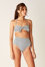 898b958e60bf High Waisted Bikini Bottoms - Navy White Stripe by Suboo at...