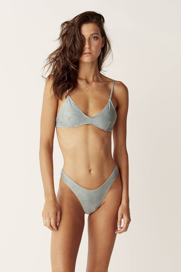 Suboo High Cut Bikini Bottoms Sage