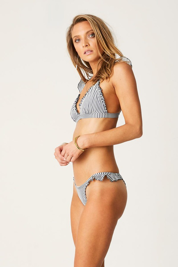 Suboo Fixed Tri Bikini Top Ziggy Stripe