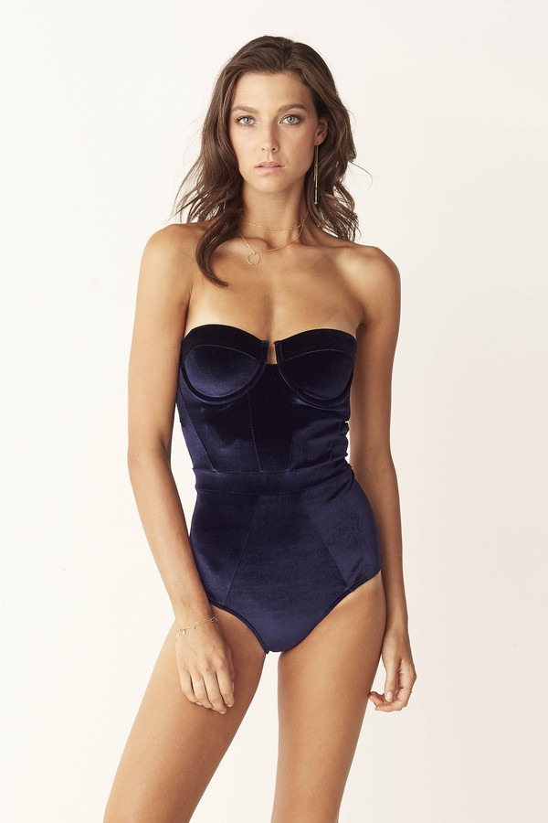 Suboo Underwire One Piece Swimsuit Indigo Velvet