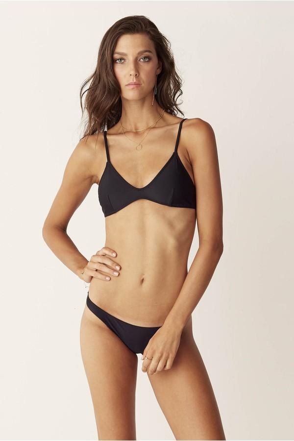 Suboo Bralette Bikini Top Matte Black