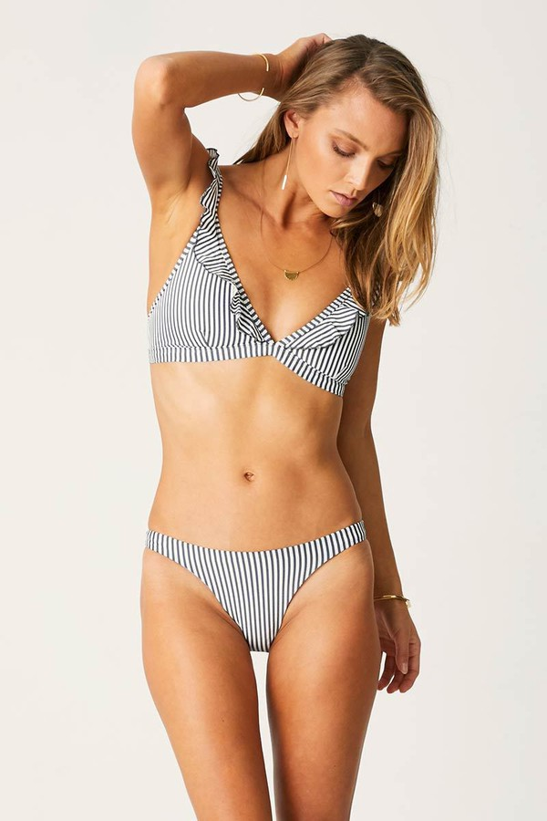 Suboo C.D Frill Bikini Top Ziggy Stripe
