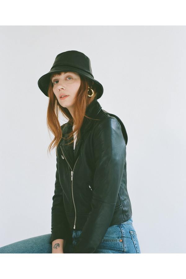 7960a1855cba72 Ginger Leather Bucket Hat by Veda at ORCHARD MILE