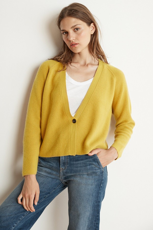 56ee7f4542f672 Halle Cashmere Blend Cropped Cardigan by Velvet by Graham &...