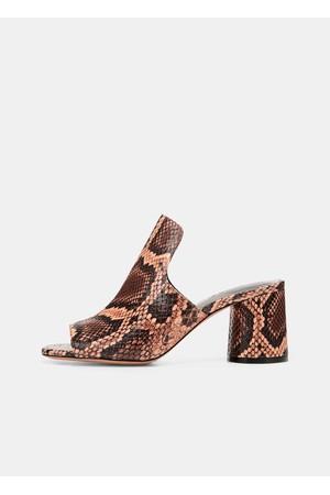 7b505e41055 Vince Tanay Snake-Print Leather Slides
