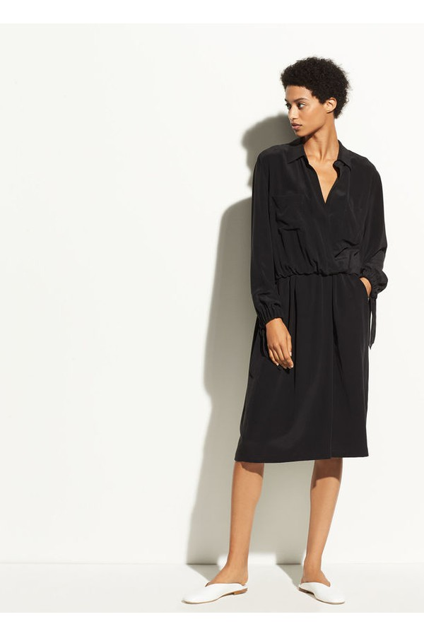 1726689341d158 Slit Back Silk Shirtdress by Vince at ORCHARD MILE