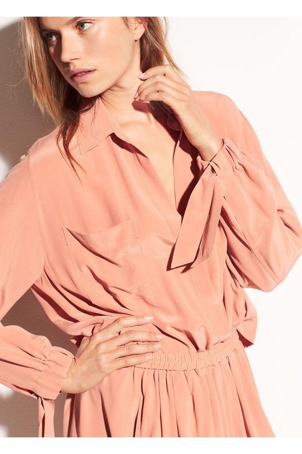 1726689341d158 Slit Back Silk Shirtdress by Vince at ORCHARD MILE